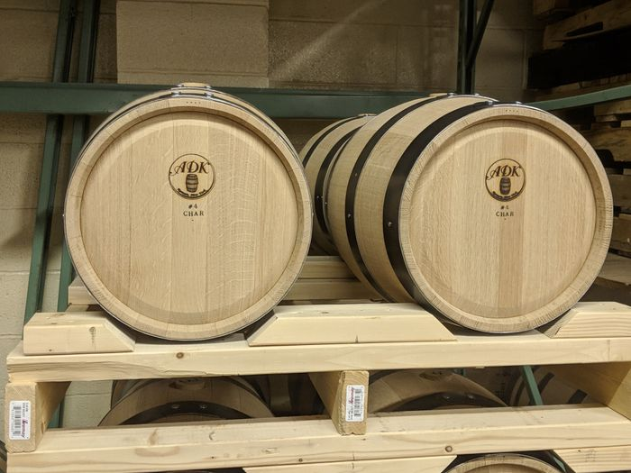 2 of our Oak aging barrels