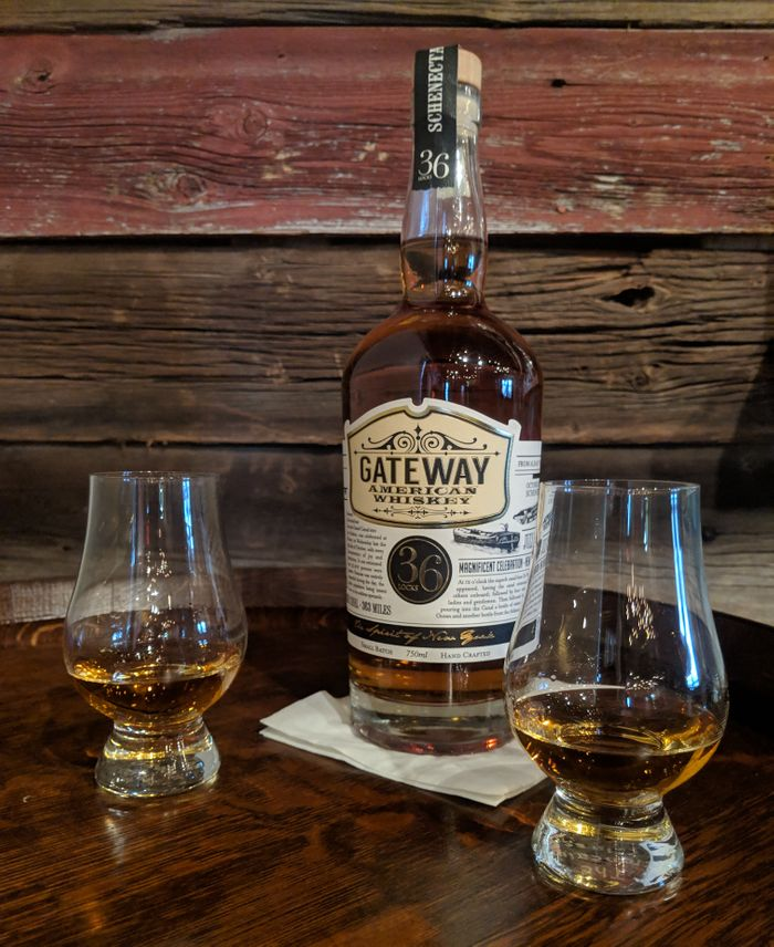 Our Gateway American Whiskey bottle
